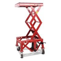 Hydraulický zvedák Cross Enduro s kolečky LIFT XL červený