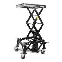 Hydraulický zvedák Cross Enduro s kolečky LIFT XL černý