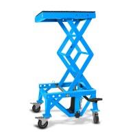 Hydraulický zvedák Cross Enduro s kolečky LIFT XL modrý