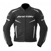 Kožená moto bunda AYRTON Raptor (černá-bílá)