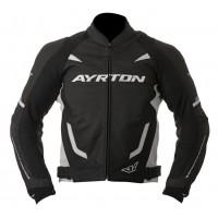 Kožená moto bunda AYRTON Evoline (černá-bílá)
