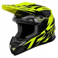 Motokrosová helma CASSIDA Cross Cup Two (žlutá fluo-černá-šedá)