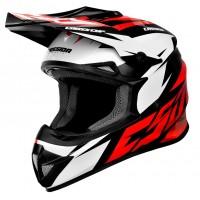 Motokrosová helma CASSIDA Cross Cup Two (červená-bílá-černá)