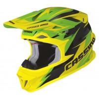 Motokrosová helma CASSIDA Cross Pro (zelená-žlutá fluo-černá)