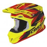 Motokrosová helma CASSIDA Cross Pro (červená-žlutá fluo-černá)