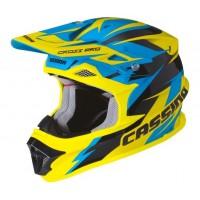 Motokrosová helma CASSIDA Cross Pro (modrá-žlutá fluo-černá)
