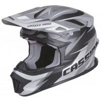 Motokrosová helma CASSIDA Cross Pro (černá matná-šedá)