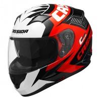 Integrální helma CASSIDA Integral 2.0 Perimetric (červená-černá-bílá-šedá)