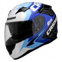 Integrální helma CASSIDA Integral 2.0 Perimetric (modrá-tmavě modrá-černá-bílá)