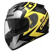 Integrální helma CASSIDA Integral 2.0 Perimetric (žlutá fluo-černá-bílá-šedá)