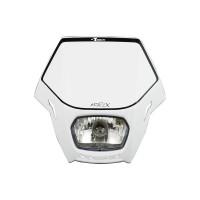 Přední enduro maska se světlem RTECH Matrix bílá