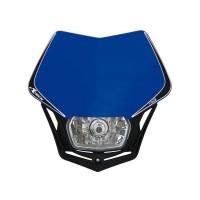 Přední enduro maska se světlem RTECH V-Face modrá-černá