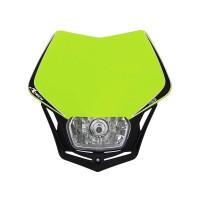 Přední enduro maska se světlem RTECH V-Face neon žlutá-černá