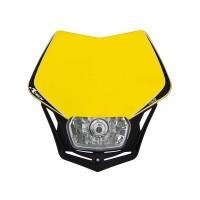 Přední enduro maska se světlem RTECH V-Face žlutá-černá