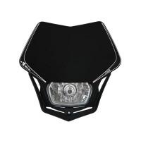 Přední enduro maska se světlem RTECH V-Face černá