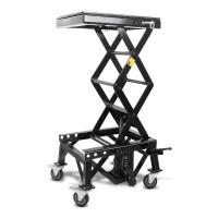 Hydraulický zvedák Cross Enduro s kolečky QTECH černý