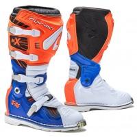 Moto boty FORMA TERRAIN TX oranžovo-bílo-modré