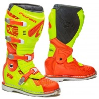 Moto boty FORMA TERRAIN TX oranžovo-fluo žluté