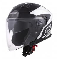 Otevřená helma CASSIDA Jet Tech Corso (černá-bílá)