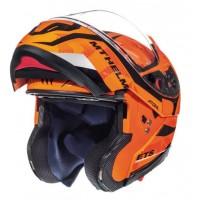 Výklopná helma MT Atom SV Divergence (oranžová fluo)
