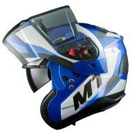 Výklopná helma MT Atom SV Transcend (modrá)