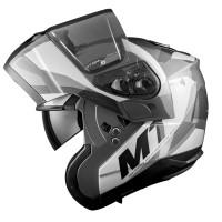 Výklopná helma MT Atom SV Transcend (šedá matná-černá lesklá)