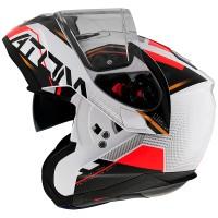 Výklopná helma MT Atom SV Quark B5 (bílá/ černá/ červená/ zlatá)