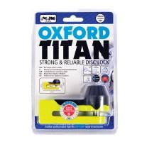 Zámek na kotouč OXFORD Titan žlutý fluo