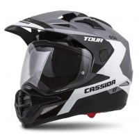 Enduro helma CASSIDA Tour 1.1 Spectre ( šedá/ bílá/ černá)