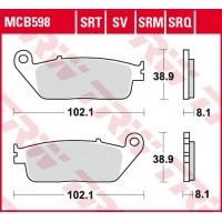 Brzdové destičky TRW Standard MCB598