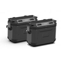 Sada boční hliníkové moto kufry KAPPA KFR37B K´FORCE černé