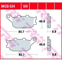 Zadní brzdové destičky TRW Standard MCB634