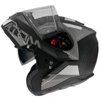 Výklopná helma MT Atom SV Quark A0 (černá/ šedá/ bílá)