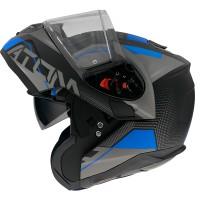 Výklopná helma MT Atom SV Quark A7 mat (černá/ šedá/ modrá)