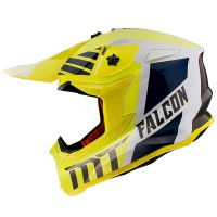 Motokrosová helma MT Falcon Warrior A3 (žlutá fluo/bílá/modrá/černá)