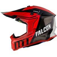 Motokrosová helma MT Falcon Warrior C5 (červená/černá/bílá)