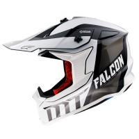 Motokrosová helma MT Falcon Warrior B0 (černá/bílá)