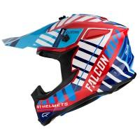 Motokrosová helma MT Falcon Energy B5 (červená-modrá-bílá)