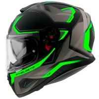 Integrální helma MT Thunder 3 SV Turbine C6 (fluo zelená-černá-šedá) matná