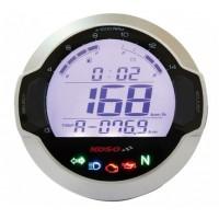 Digitální tachometr KOSO D64 DL-03SR stříbrný